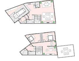 #12 untuk I need ideas for adjustments/extensions to an existing 2 story unit floor plan oleh brazi2803