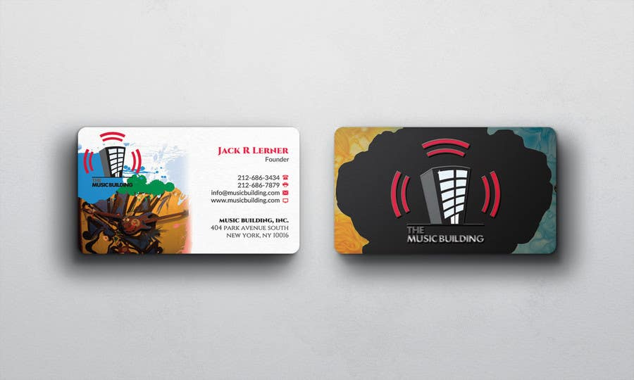 Contest Entry #                                        125                                      for                                         Design some Business Cards for The Music Building