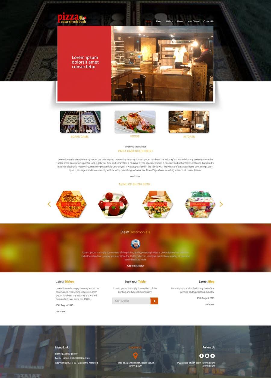 Proposition n°                                        5                                      du concours                                         Design a Website Mockup for a pizzeria restaurant