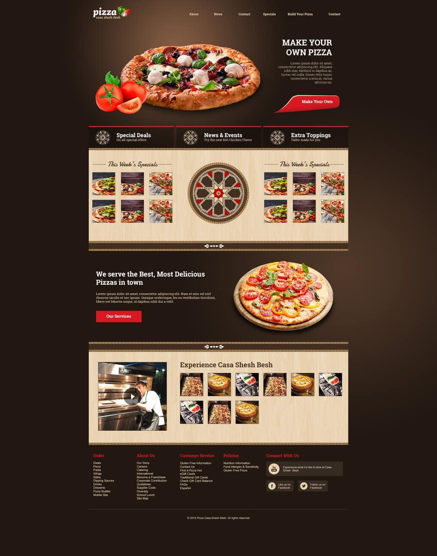 Proposition n°                                        13                                      du concours                                         Design a Website Mockup for a pizzeria restaurant