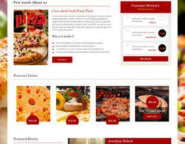 nº 14 pour Design a Website Mockup for a pizzeria restaurant par syrwebdevelopmen