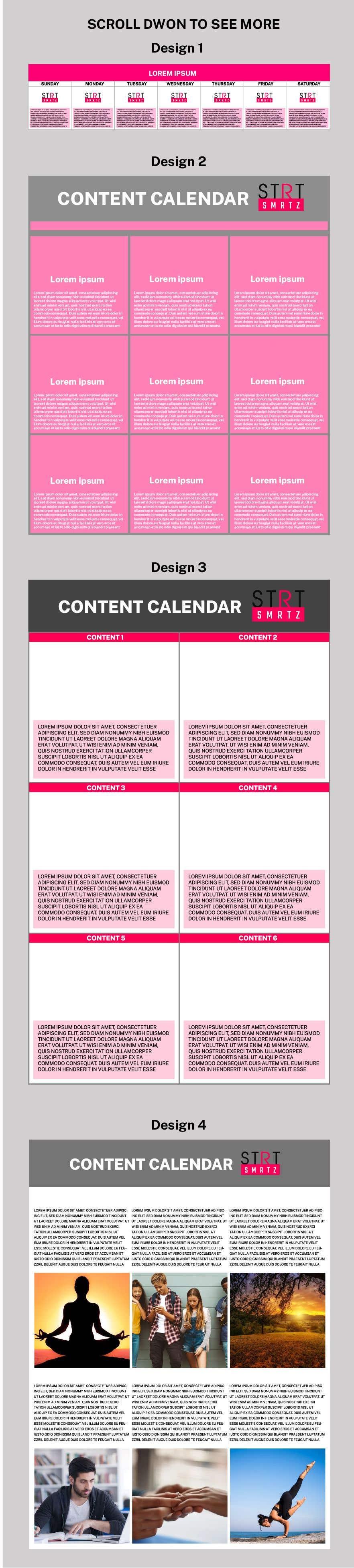 Konkurrenceindlæg #                                        3                                      for                                         Social Media content Calendar