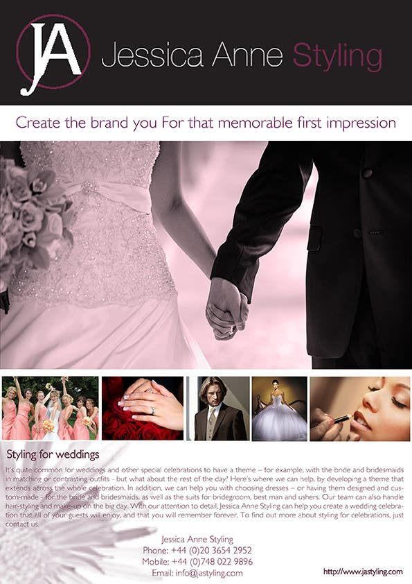 Contest Entry #                                        20                                      for                                         Design an Advertisement for Weddings