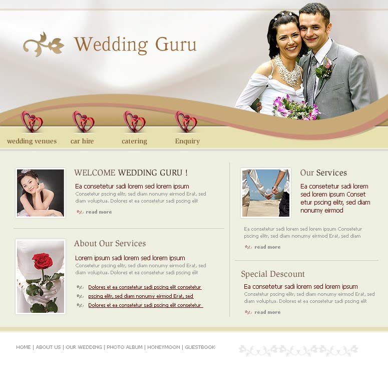 Contest Entry #23 for Website Design for Wedding Guru