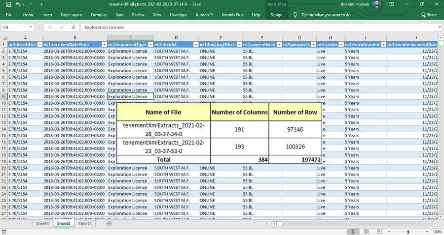 Contest Entry #                                        17                                      for                                         Combine XML files and load into excel