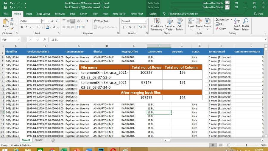 Contest Entry #                                        14                                      for                                         Combine XML files and load into excel