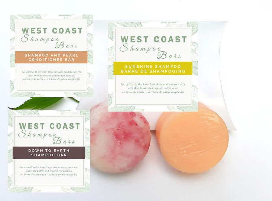 Bài tham dự cuộc thi #                                        15                                      cho                                         I need design help for packaging for shampoo and conditioner bars