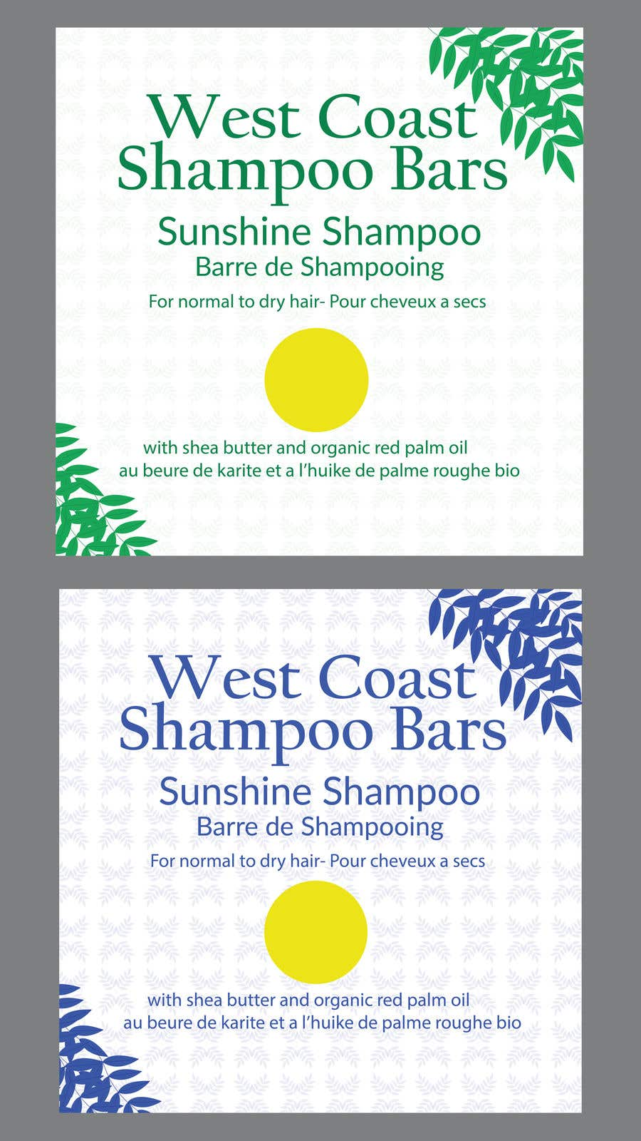 Bài tham dự cuộc thi #                                        3                                      cho                                         I need design help for packaging for shampoo and conditioner bars