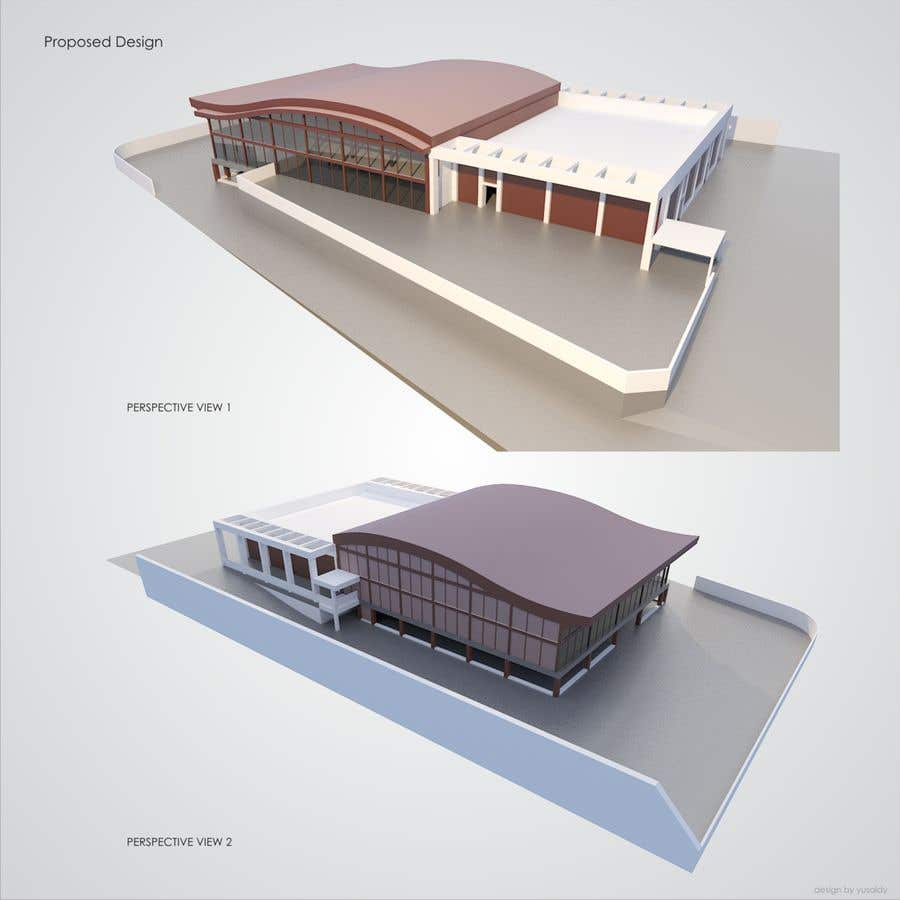 Contest Entry #                                        7                                      for                                         SKETCHUP 3D model of a building from pictures and plan #4