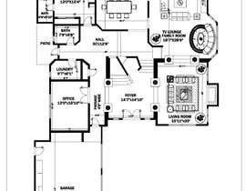 Nro 43 kilpailuun Floor plan Redesign käyttäjältä Sarmad1214
