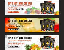 #76 for Banner for Buy 1 Get 1 Half Off  Sale on CBD Gummies by riponsumo
