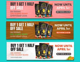 #146 for Banner for Buy 1 Get 1 Half Off  Sale on CBD Gummies by riponsumo