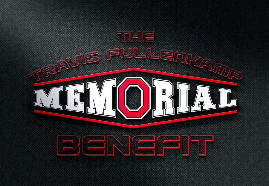 """Bài tham dự cuộc thi #                                        12                                      cho                                         The event name is """"The Travis Fullenkamp Memorial Benefit"""".  The theme of this event is Ohio State. Please incorporate the attached file into the logo. Colors should be gray, white, black and red."""