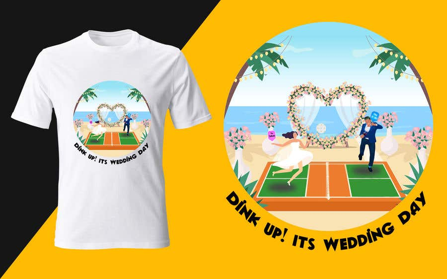 "Intrarea #                                        75                                      pentru concursul ""                                        Pickle Ball Wedding T Shirt Logo                                     """