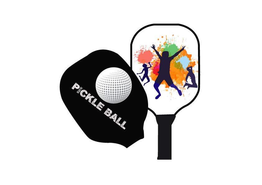 "Intrarea #                                        68                                      pentru concursul ""                                        Pickle Ball Wedding T Shirt Logo                                     """