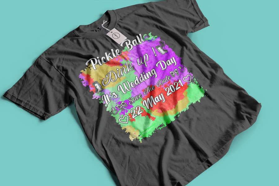 "Intrarea #                                        69                                      pentru concursul ""                                        Pickle Ball Wedding T Shirt Logo                                     """