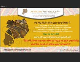 #14 for design a banner of an art gallery inviting artist to advertise on the marketplace af mycreativeworld1