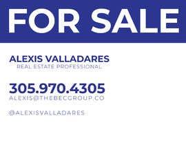 #1 untuk Alexis Valladares - FOR SALE Sign oleh Rakibrabby