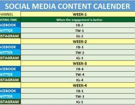 #2 для 30 Day CUSTOM Social Media Content Calendar (12 posts) от kaioum444