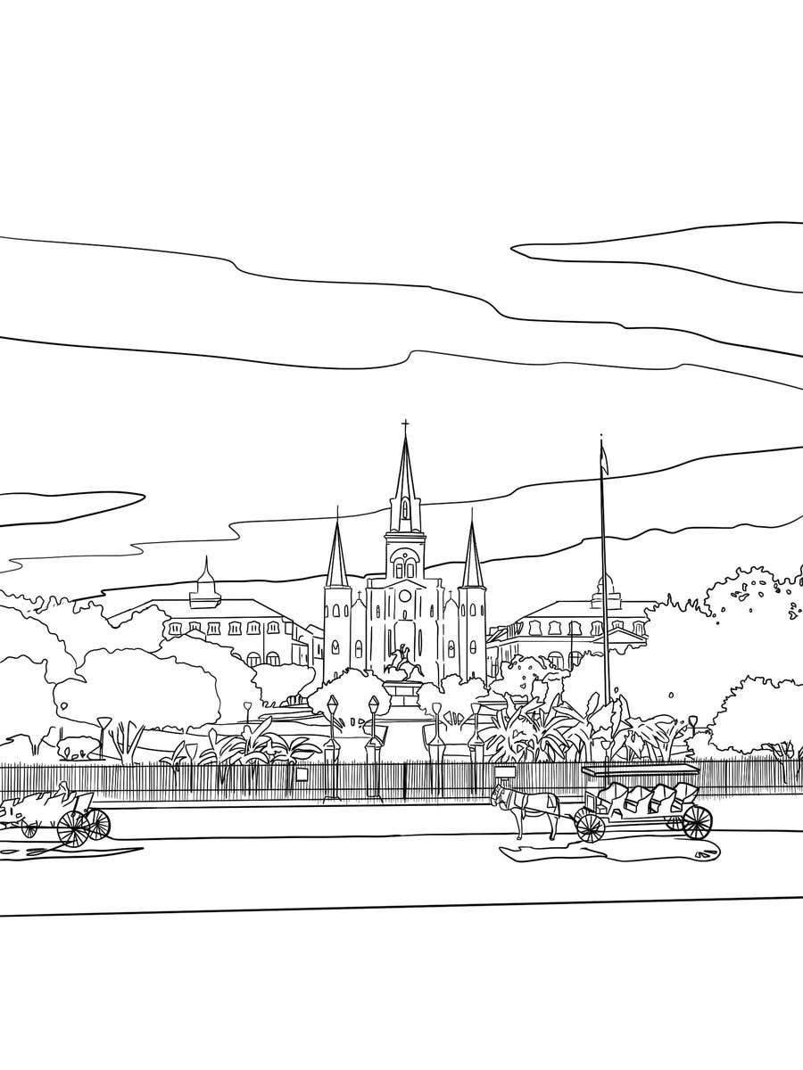 Inscrição nº                                         10                                      do Concurso para                                         Hand drawn coloring page