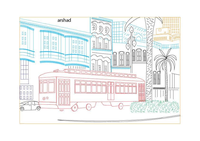 Inscrição nº                                         23                                      do Concurso para                                         Hand drawn coloring page