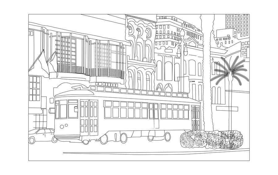 Inscrição nº                                         7                                      do Concurso para                                         Hand drawn coloring page