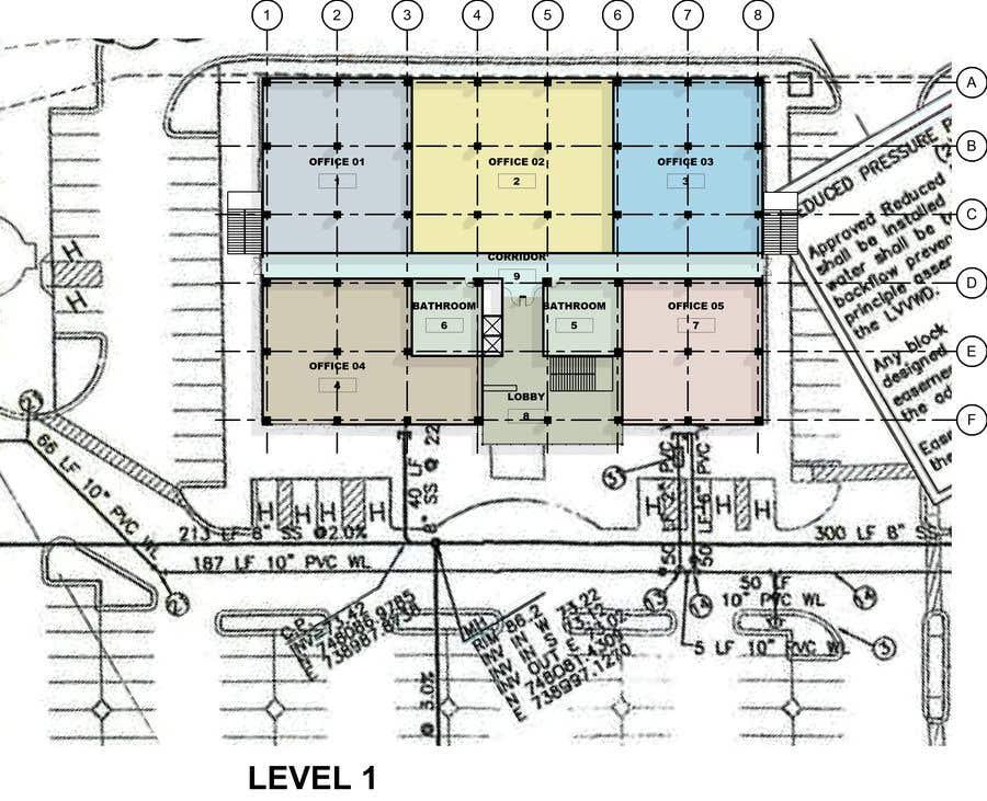 Penyertaan Peraduan #                                        44                                      untuk                                         2 Story Commercial Architectural renderings with floor plans