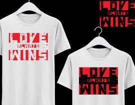 #51 для artistic T-shirt graphics, Love Always Wins от mhrdiagram