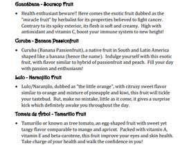 #27 untuk drinks menu for restaurant oleh fathul1994