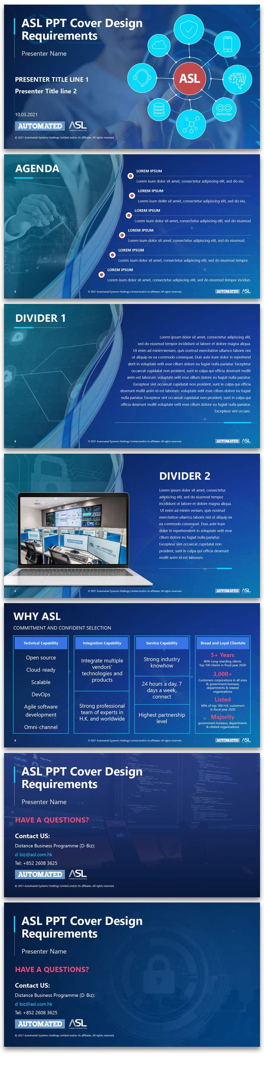 Bài tham dự cuộc thi #                                        37                                      cho                                         Corporate PPT Template Design (6 slides)