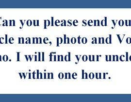 #5 for I want someone who knows how to help find a relative (uncle) online using my ( uncle)relative  picture. - 05/03/2021 09:47 EST by chuttifactory