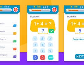 #48 cho Design 3 mobile screen for a kids educational app bởi amitwebdesigner