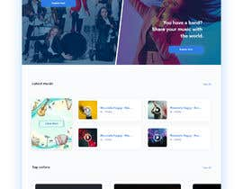 #113 cho Home Page redesign for Music Website bởi Dmamun18