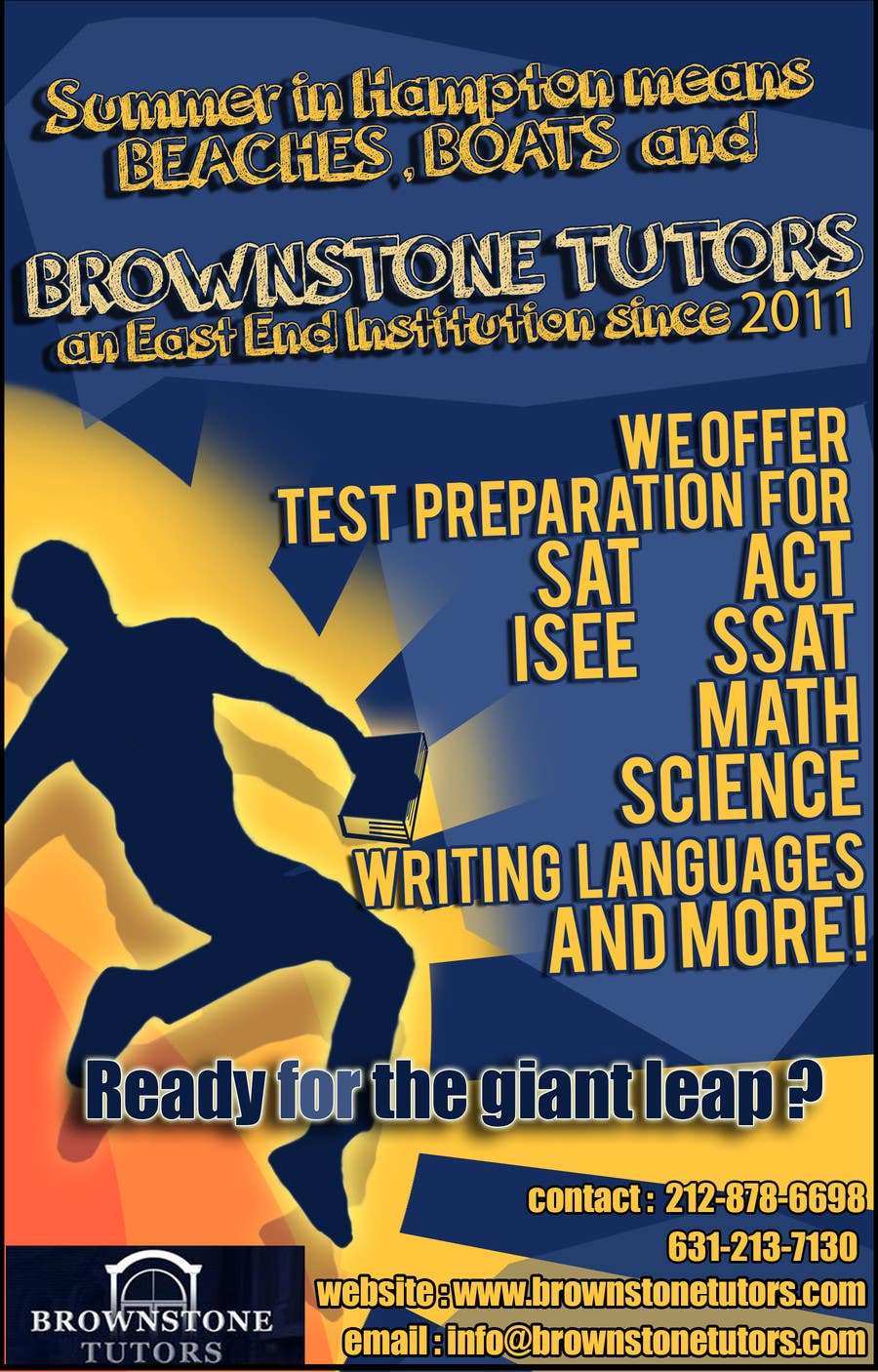 #18 for Advertisement Design for Brownstone Tutors by dewanshparashar