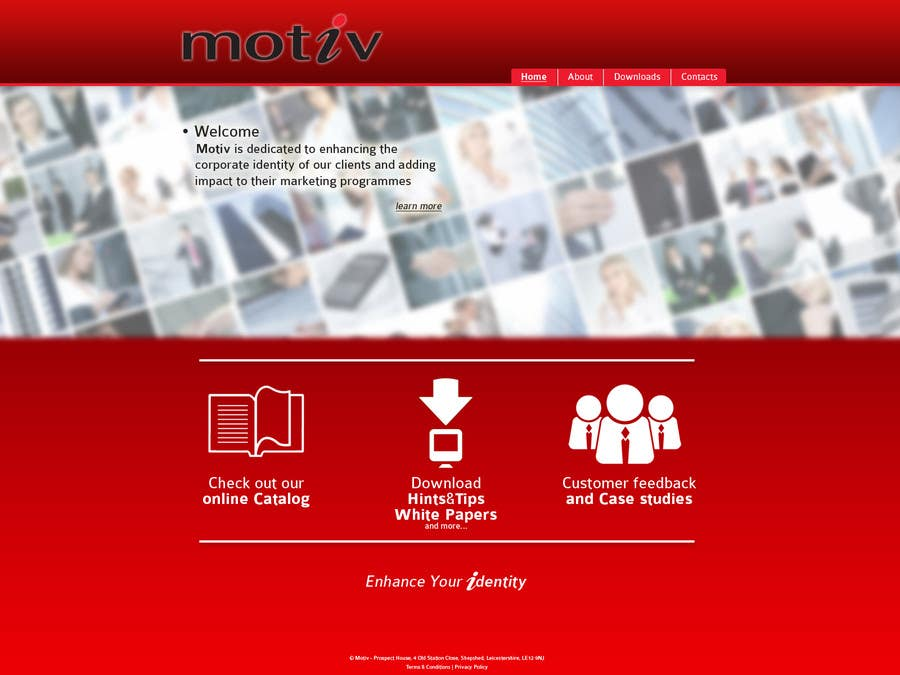 Kilpailutyö #1 kilpailussa Website Design scheme/home page for Motiv
