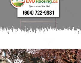 #8 para Lawn sign for Roofing company por Jun01