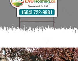 #11 para Lawn sign for Roofing company por Jun01