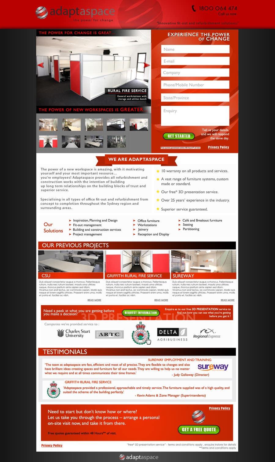 Konkurrenceindlæg #                                        32                                      for                                         Graphic Design for Landing Page