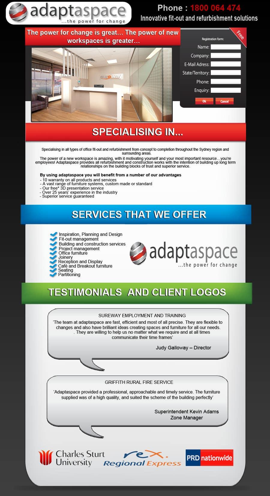 Konkurrenceindlæg #                                        3                                      for                                         Graphic Design for Landing Page