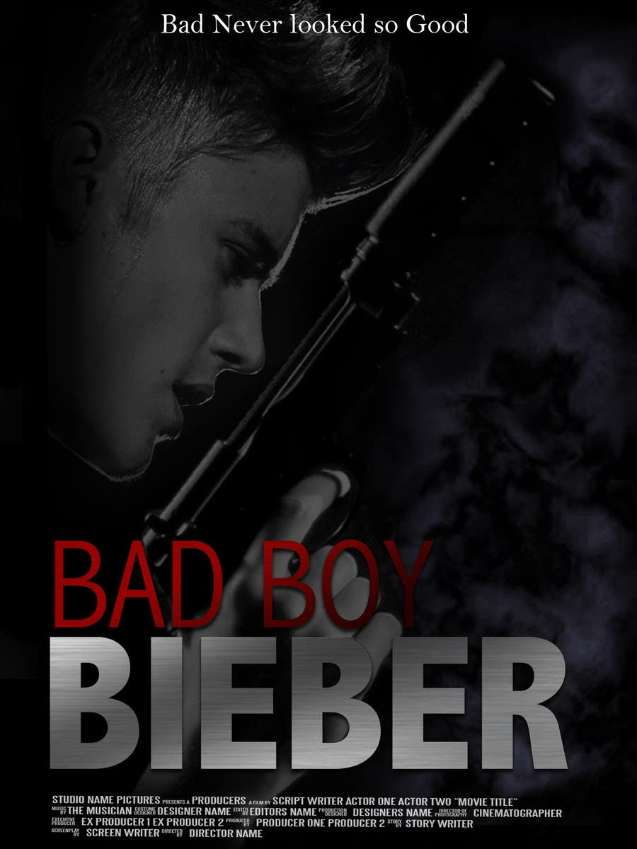 #139 for Design a poster for Gangster @JustinBieber, #BadBoyBieber! by brandonLee24