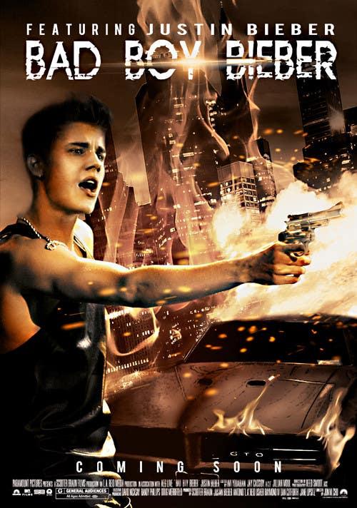 #145 for Design a poster for Gangster @JustinBieber, #BadBoyBieber! by cornelee