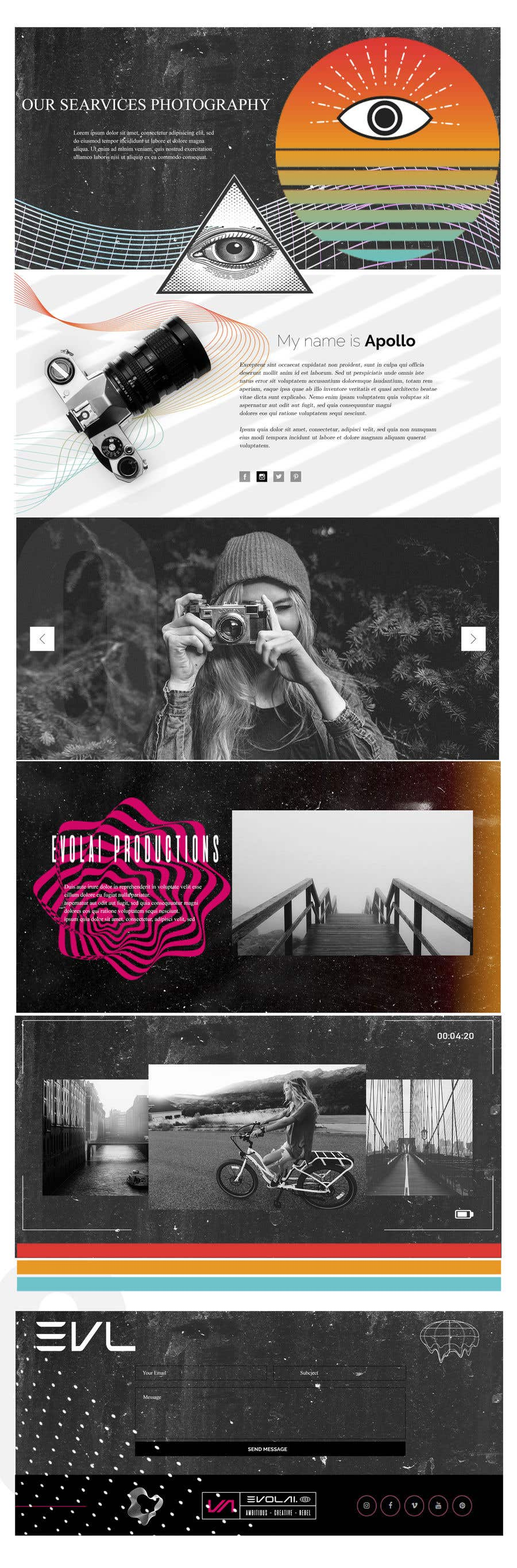 Contest Entry #                                        11                                      for                                         Web Page Design - redesign Services page for photography business