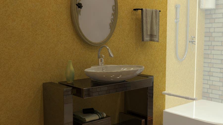 Proposition n°                                        18                                      du concours                                         Design & Render 5 square meter bathroom.