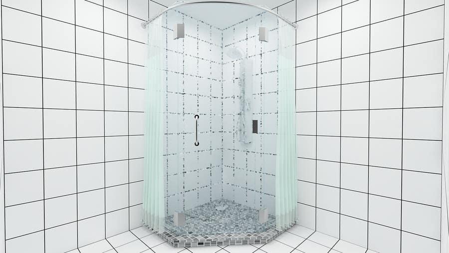 Proposition n°                                        9                                      du concours                                         Design & Render 5 square meter bathroom.
