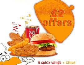 #44 untuk Poster design for £2 offers in fast food restaurant oleh wellone2and2