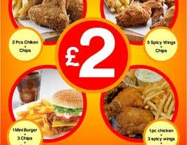 #29 for Poster design for £2 offers in fast food restaurant by designart65