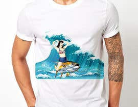 #7 for Design a retro 1950's pinup girl style spearfishing shirt af erdibaci1