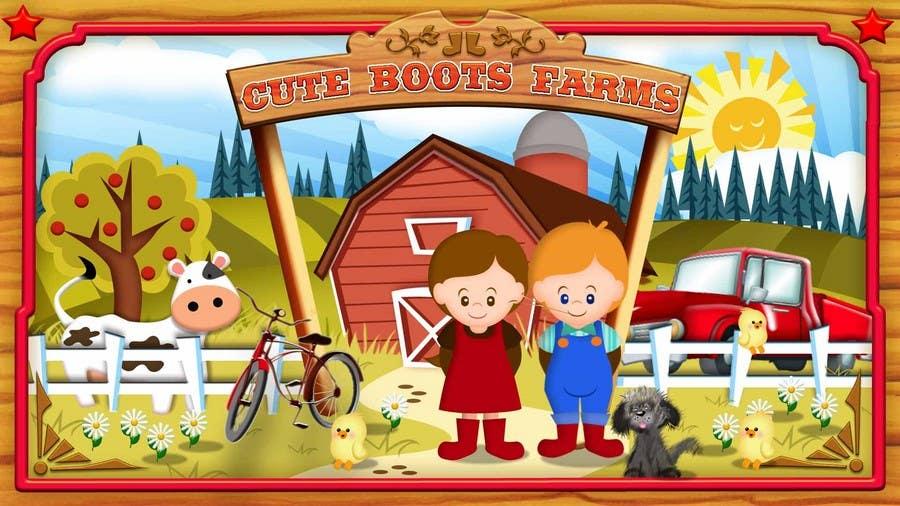 Penyertaan Peraduan #                                        6                                      untuk                                         Illustration Design for Cute Boots Farms