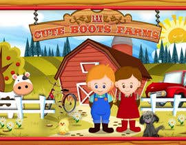 #9 untuk Illustration Design for Cute Boots Farms oleh richhwalsh