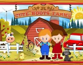 #14 untuk Illustration Design for Cute Boots Farms oleh richhwalsh